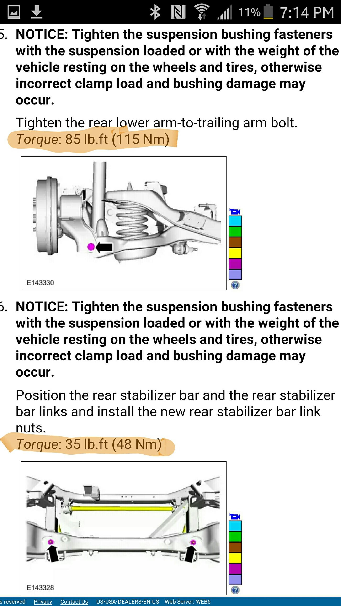 suspension torque settings ford focus forum ford focus st forum ford focus rs forum