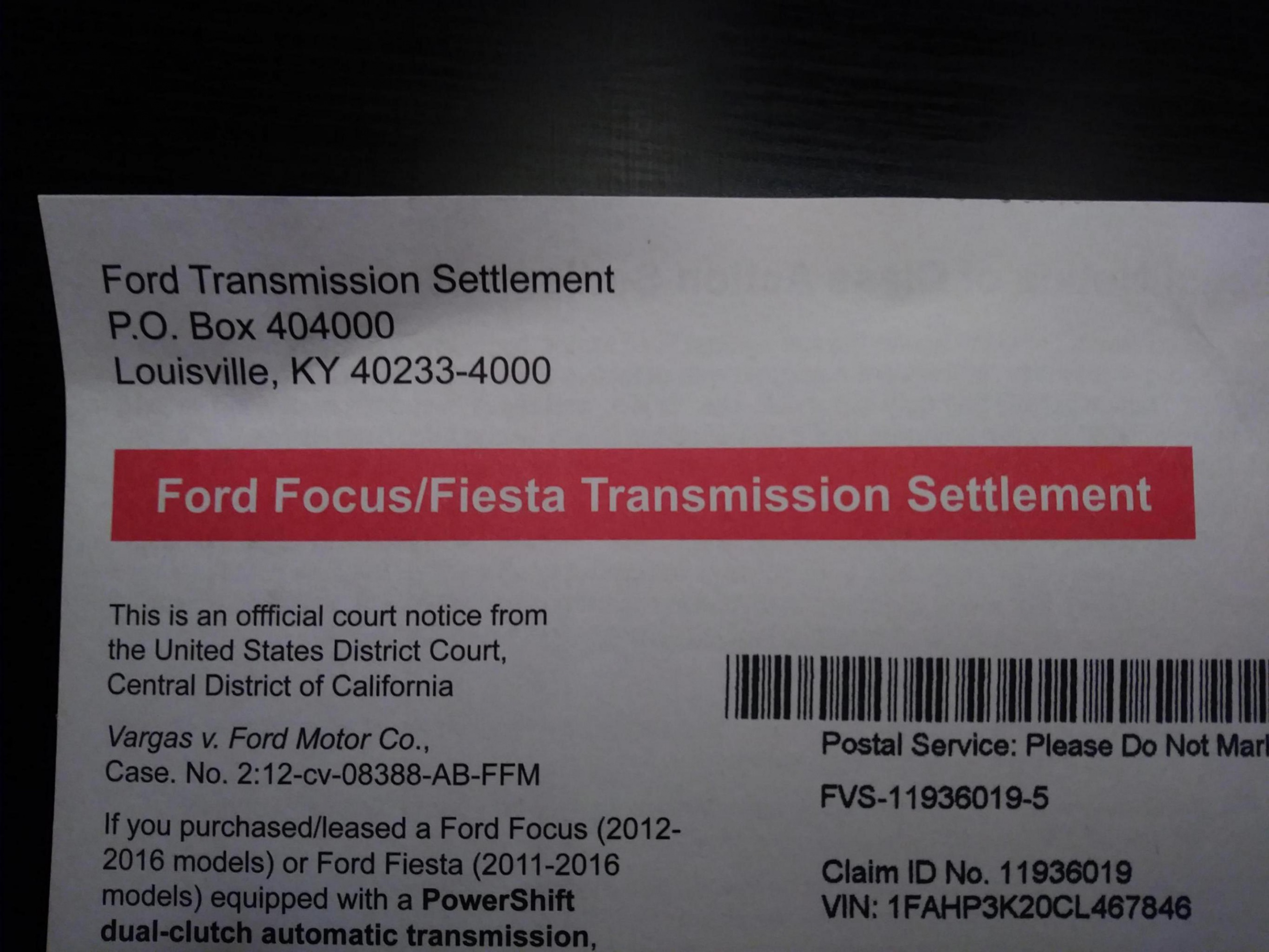 Ford Settles Class Action Lawsuit on DCT - Ford Focus Forum
