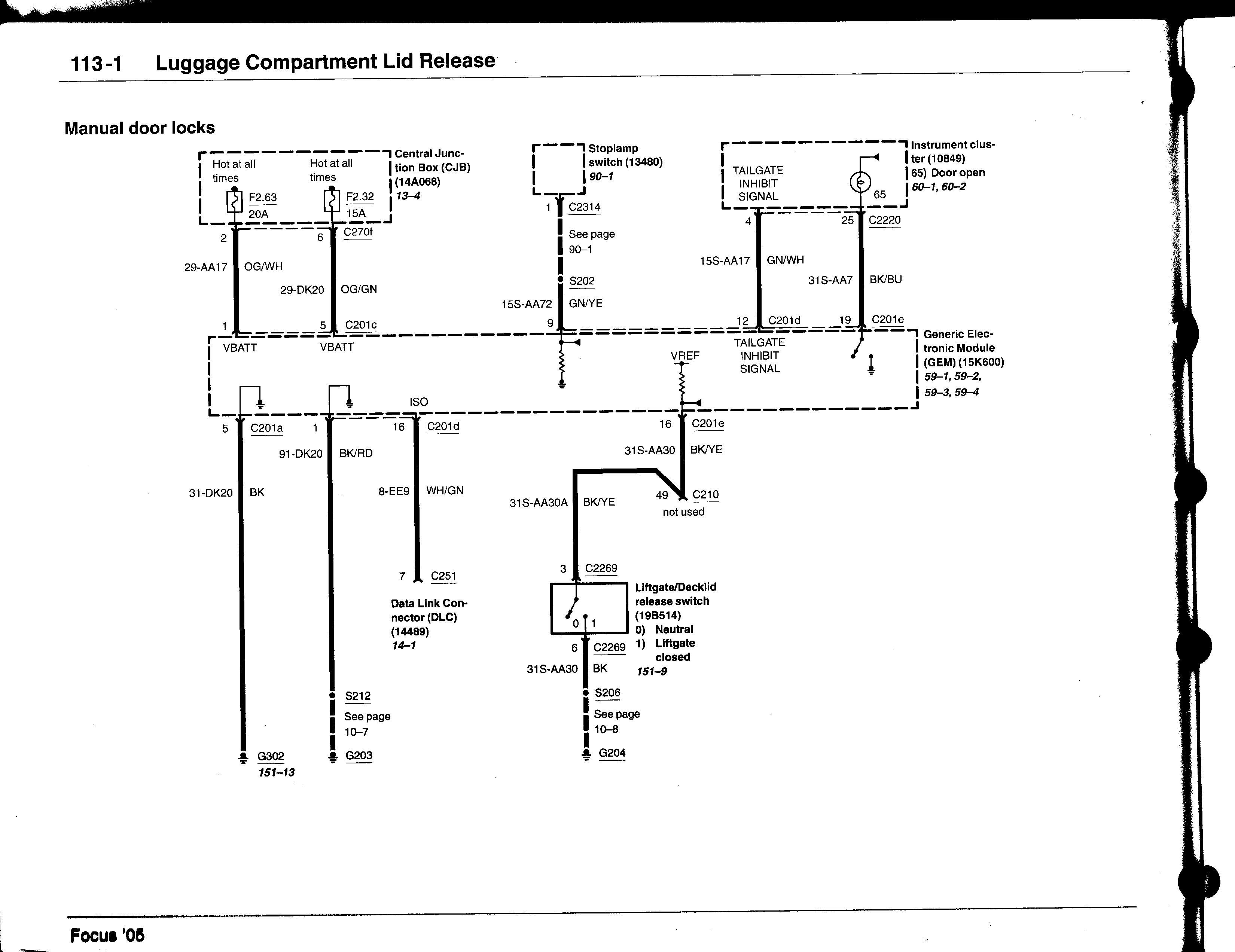 Ford Focu Wiring Diagram Mk1