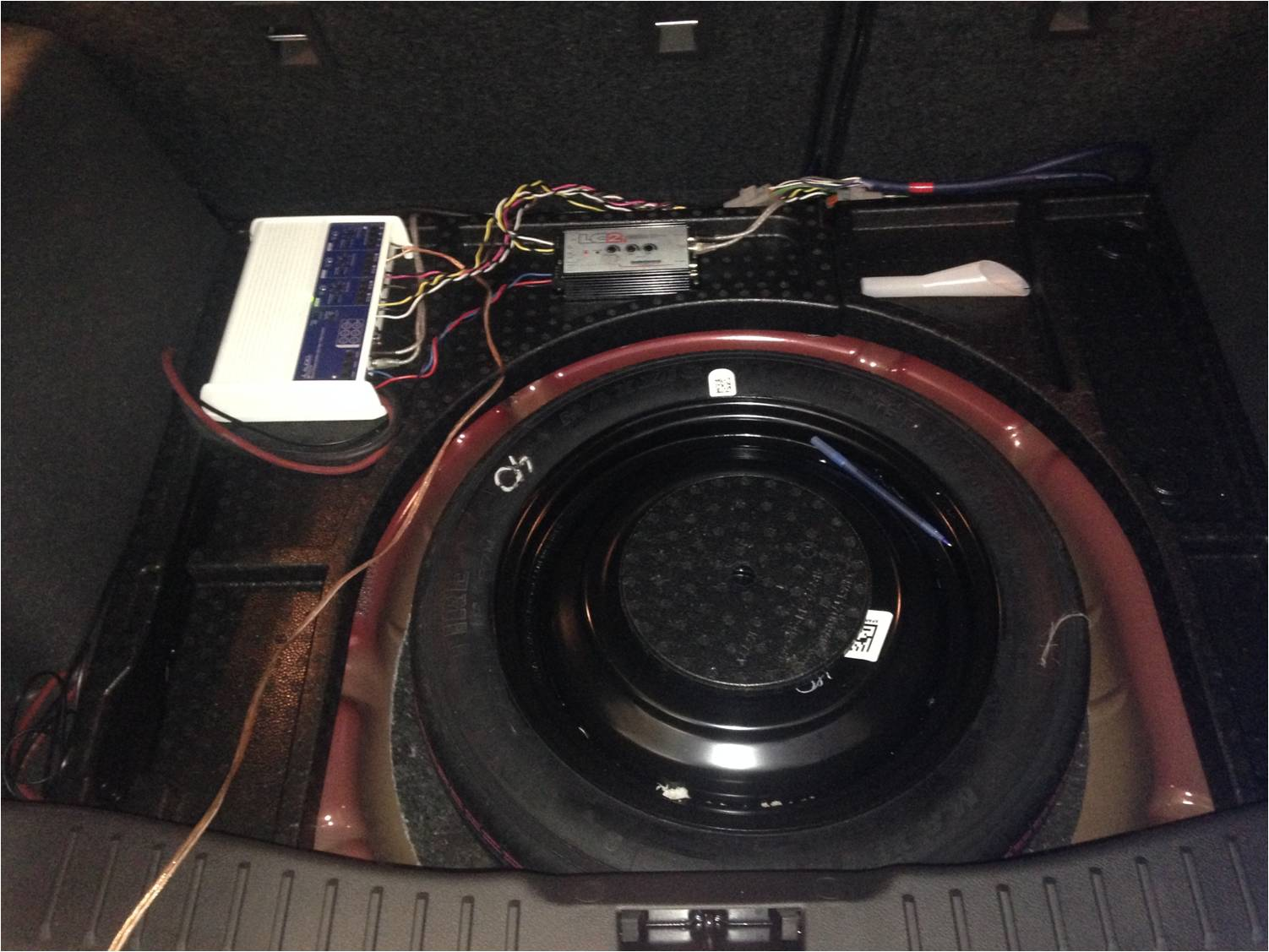 2015 Up Dash Removal And Amp Install Done Ford Focus Forum How To Hook Subwoofer 9 Set