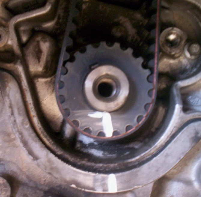 ZETEC Timing Belt Replacement-crank-sprocket-marks-found.jpg