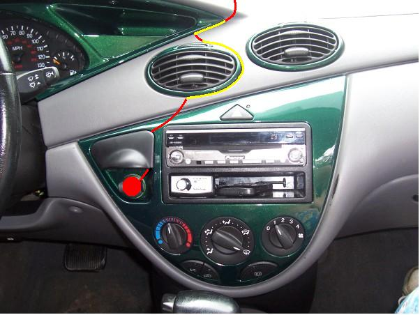 easy way to hide those radar detector wires ford focus. Black Bedroom Furniture Sets. Home Design Ideas