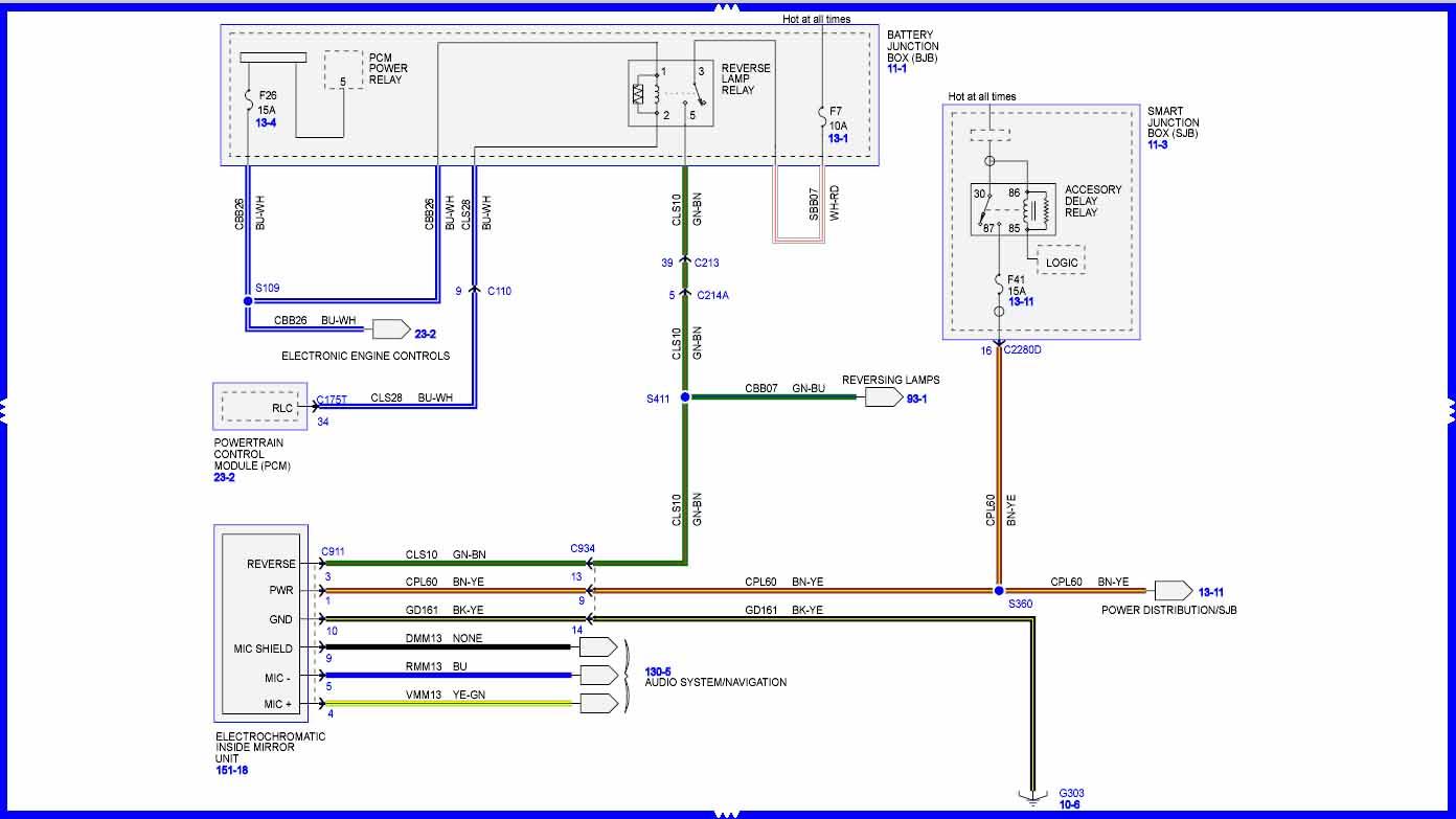 HELP* - Need Wiring Diagram for Auto-Dimming Rearview Mirror (2009 SEL) |  Focus Fanatics ForumFocus Fanatics