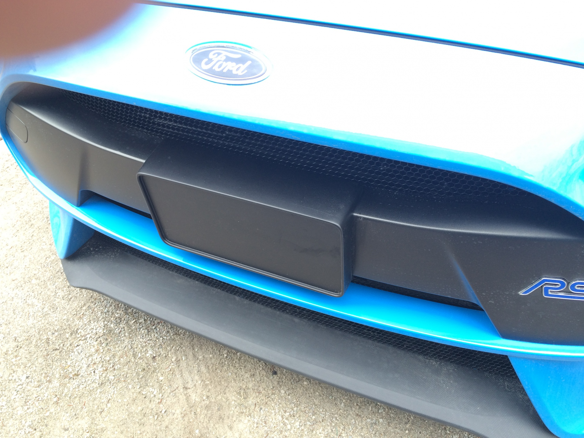 Rs front licence plate holder ford focus rs 2017 front