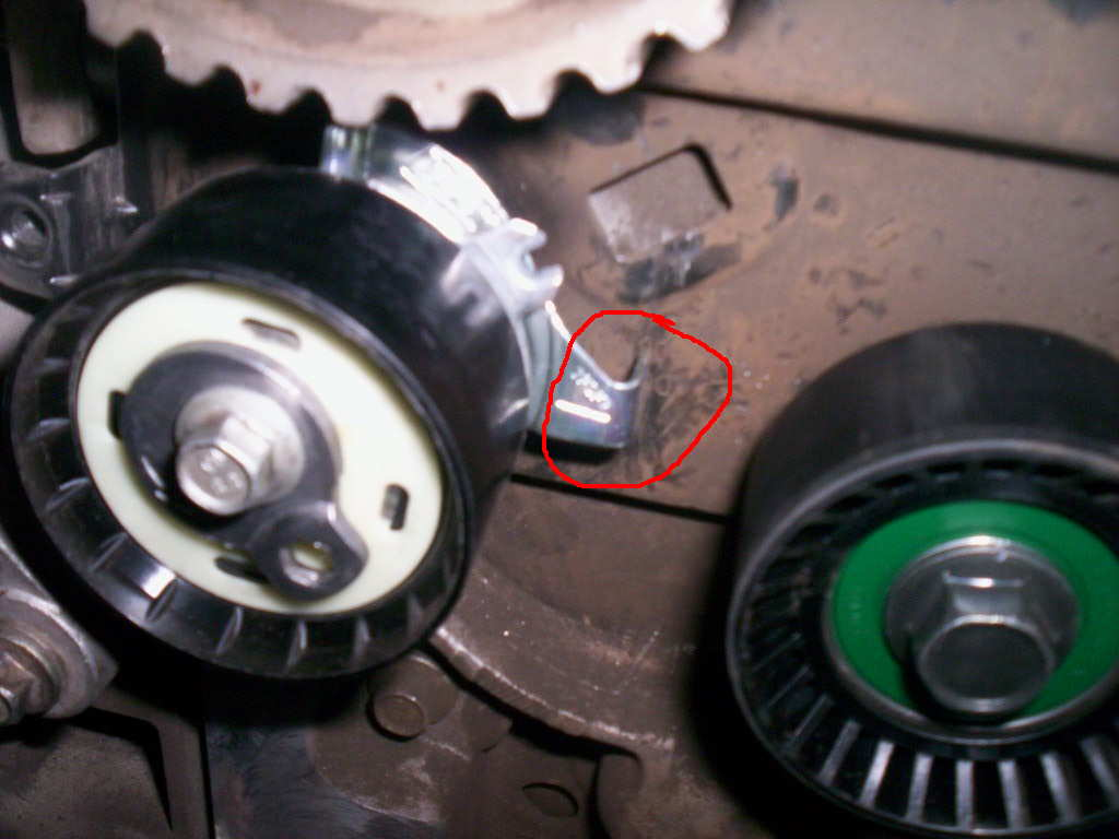 Zetec Timing Belt Replacement Page 2 Ford Focus Forum 2002 Timming Engine Mechanical Problem Tensioner Tab Out Install