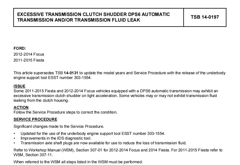 Tranny ? for 2014 Models Made After the DCT Warranty