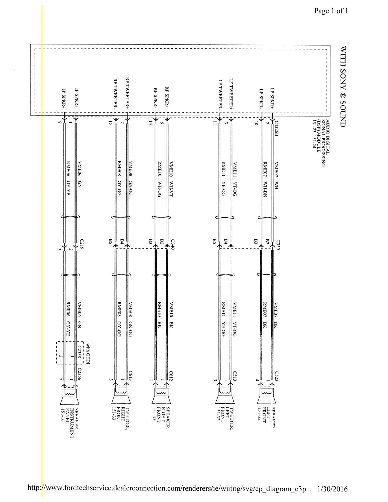 2015 Focus Mk3 5 Stereo Wiring Diagram