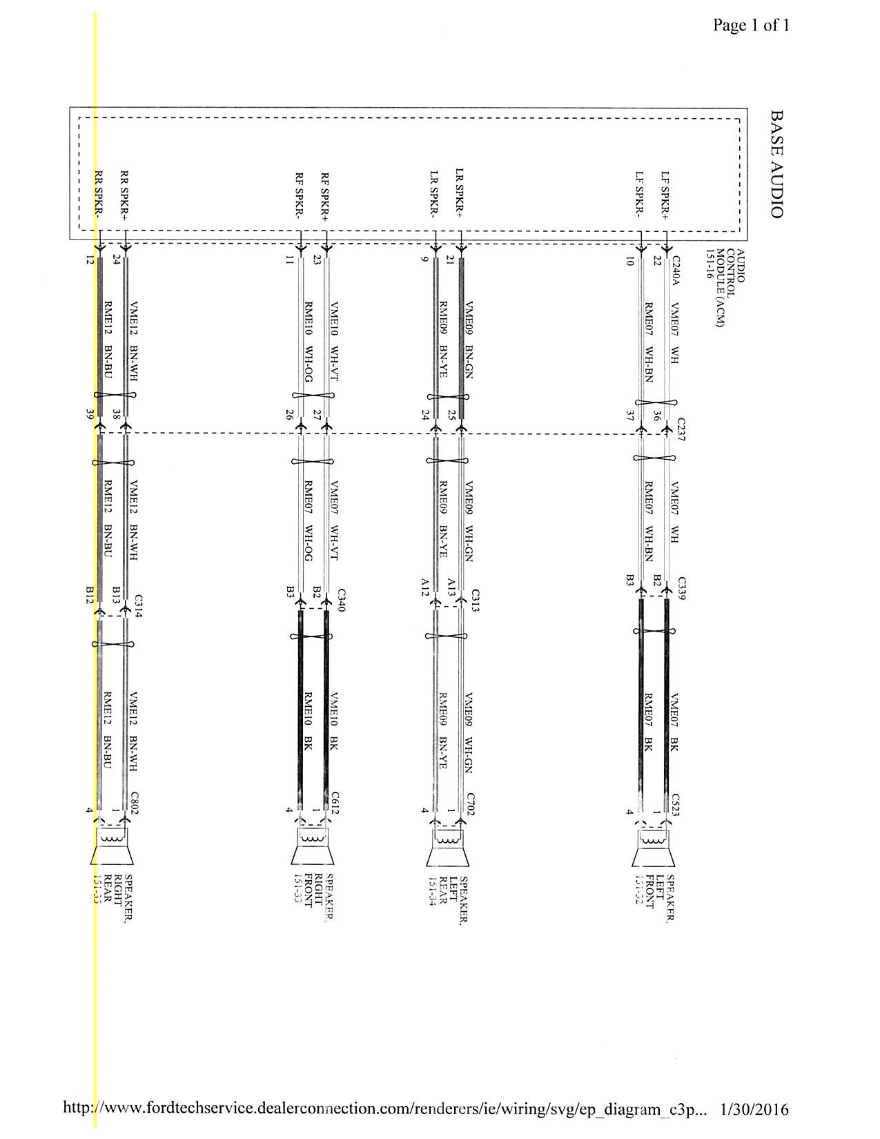 Ford Focus Stereo Wiring Diagram Data Dodge Omni 2015 Mk3 5 Forum 2008