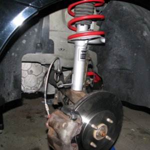 saleen racecraft suspension, stainless steal lines, brembo plains