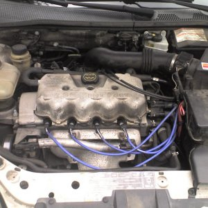 my motor and its new wires. dirty i know.