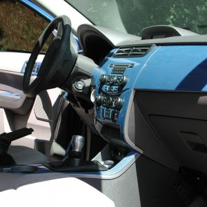 F2USA short shifter with Saleen weighted knob  interior also has six (6) blue cold cathodes (1 under each side of dash, 2 under front and back of each