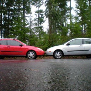 my car Left, Fiances car Right, I've had mine for 3 1/2 years and we've had hers for 2 months. Both 2000 ZX3