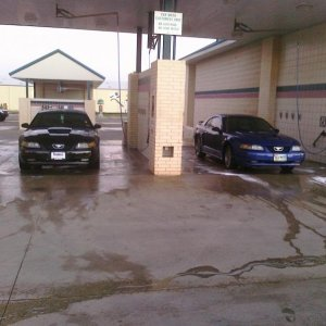 2 stangs at the wash