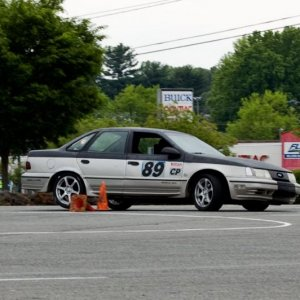 The '89 at an autocross, that car was a beast! R.I.P 2010 (The car, not my brother)