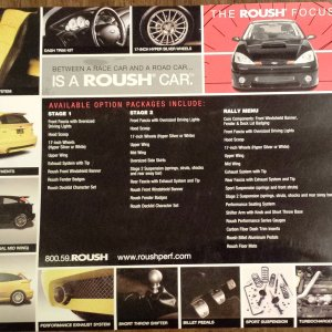 2004 Black ZX3 Premium Roush Stage 2 Options List