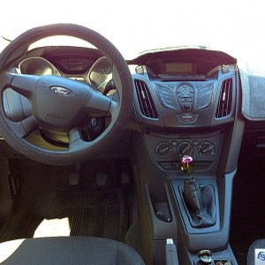 Interior with dash cover and neo chrome knob