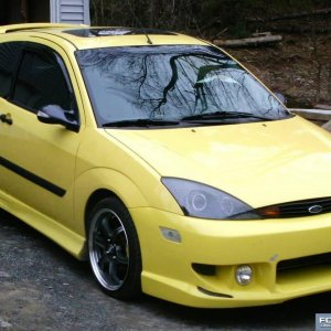 Yellow Focus with Rims