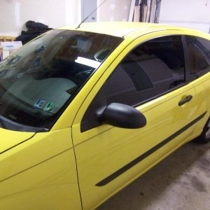 Just tinted all my windows 20% Looks pretty clean and costed me about 15 bucks off ebay and it was pre-cut