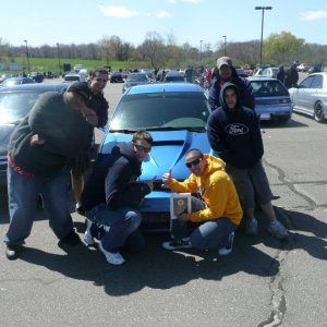 The Winning crew at the UCONN annual car show