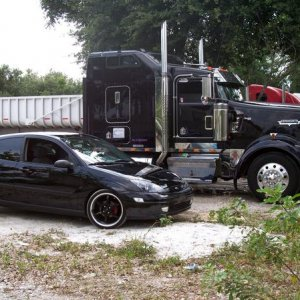 my dads truck and my zx3