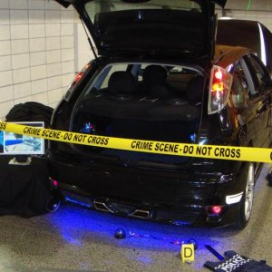 Got to the show and set up my crime scene Saturday night