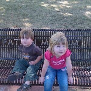 Jaycie and Jacobe at the Patton Museum on Ft. Knox