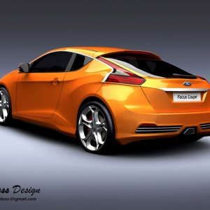Focus Coupe Rendering
