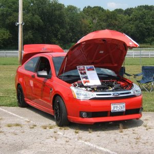2011 FocusFest prep   First place!  Best in Class... coupes and sedans