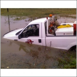 hahaha, my a**hole ex employer's truck I put in the ditch. I call it Scuba Truck. for 55mph into a 3.5 ft ditch full of water it was a very soft &quot