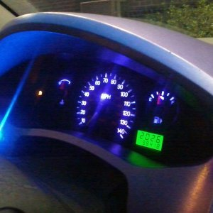 Up-To-Date Dash (Purple LEDs/strip) & Trunk Button Mod (Blue LED)
