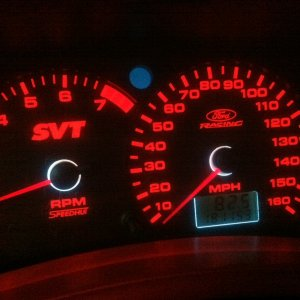 Red Speed Hut gauges