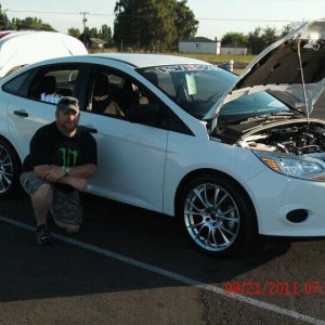 Me and my 2012 focus at the 2011 woodburn drag strip