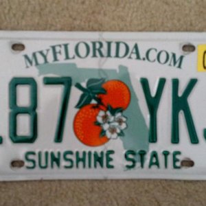 In memory of my Florida license plate (moved to SC)