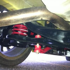 Sportline suspension with massive adj toe and camber arms (Lt side)