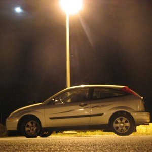 The night I bought my car. under the lights at the local high school.