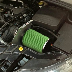 New green air filter and air intake by fswerk.com